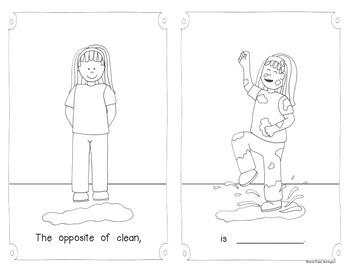 Opposites Emergent Reader {for Kindergarten and First Grade} Booklet #1