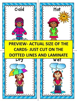 Opposites Flash Cards- Opposites Word Wall Cards- Opposites visuals