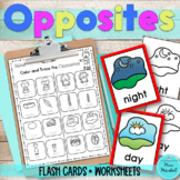 Opposites Flash Cards | Worksheets| ESL