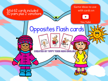 Opposites Flash cards