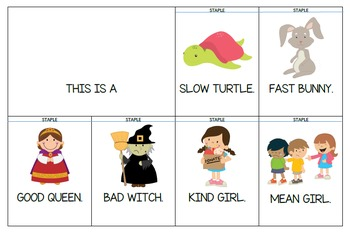 Opposites - Flashcards, Tracing Cards, Flip Books (Uppercase letters)