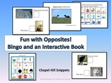 Opposites Fun!  Interactive Book and Bingo Game (Special E