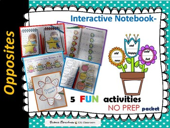 Opposites -Interactive Notebook