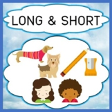 Opposites Long & Short Concepts, Vocabulary, Questions, Sorting