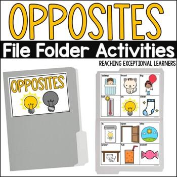 SPED Life Skills- Opposites File Folder Activity