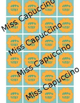 Opposites Memory Game (Pairing Cards, Flashcards)