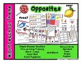 Opposites - Mini Preschool Theme - antonyms