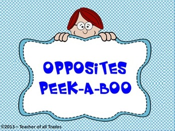 Opposites Peek-a-Boo Flipchart