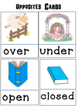 Opposites Picture cards