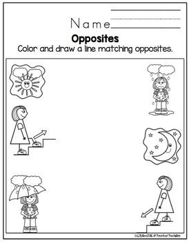 Opposites Printable