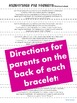Opposites Homework Bracelets with QR codes - FREE