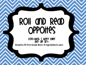 Opposites Roll and Read