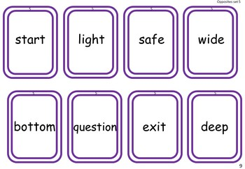 Opposites Vocabulary Game for EAL /ESL /ELL and native English students