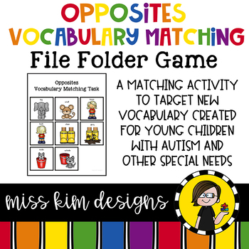 Opposites Vocabulary Matching Folder Game for Early Childh
