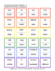 Opposites Vocabulary Sheet and Bingo - 24 Cards, for English Language Learners