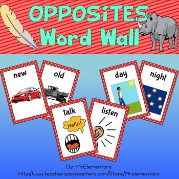 Opposites Word Wall
