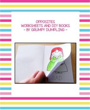 Opposites - Worksheets and DIY Books