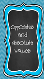 Opposites and Absolute Value