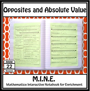 Opposites and Absolute Value Notes and Activity