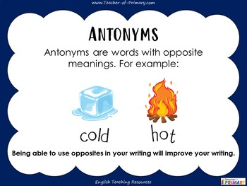 Opposites and Antonyms