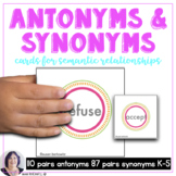 Antonyms and Synonyms for Speech Therapy