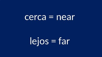 Opposites in Spanish (I)