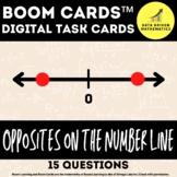 Opposites on the Number Line - 6.NS.6a - Boom Cards™ Digital Task Cards