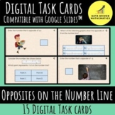 Opposites on the Number Line - 6.NS.6a - Digital Task Cards with Google Slides™