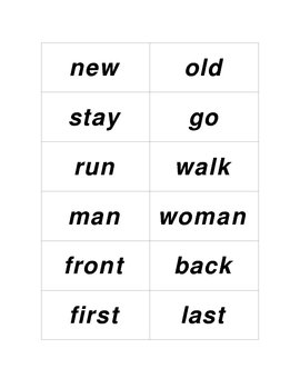 Opposites/Antonyms Concentration