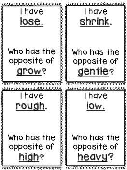 Opposites/Antonyms Game