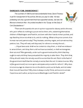 Opposition to the Mexican-American War(Primary Source/Writing Activity)