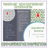 Oppositional Defiance: A brochure for parents and teachers