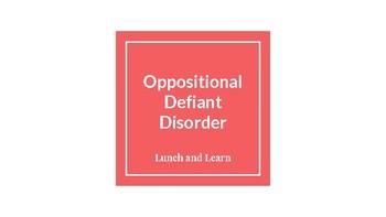Oppositional Defiance Disorder Presentation
