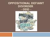 Oppositional Defiant Disorder Powerpoint