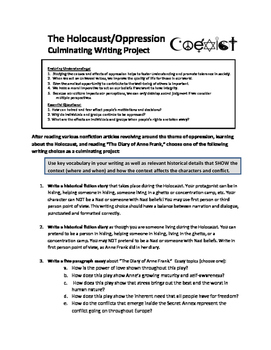 Oppression and Prejudice Writing Projects