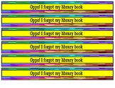 Opps! I forgot my library book wristband/backpack reminders