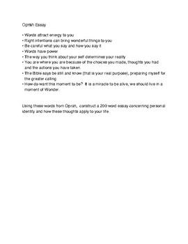 Oprah Identity Essay