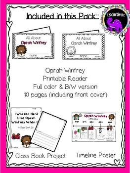Oprah Winfrey Activity Pack