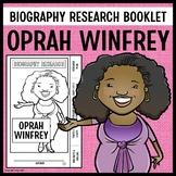 Oprah Winfrey Biography Research Booklet