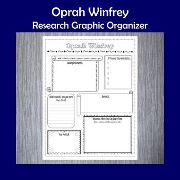 Oprah Winfrey Biography Research Graphic Organizer