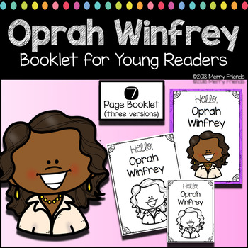oprah winfrey booklet for young readers emergent reader womens history