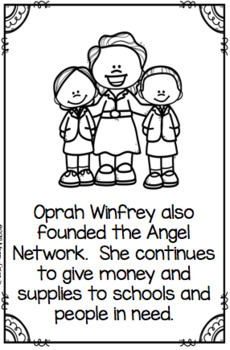 Oprah Winfrey Booklet for Young Readers - Emergent Reader Womens History