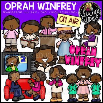 Oprah Winfrey Clip Art Bundle {Educlips Clipart}