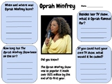 Oprah Winfrey - Research Activity (Women's History Month)