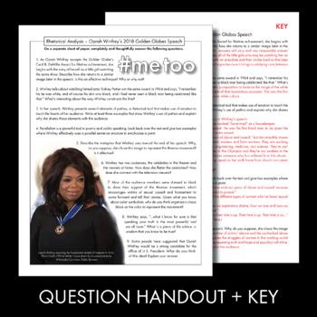 Oprah Winfrey's Golden Globes Speech, Real-World Rhetorical Analysis, CCSS