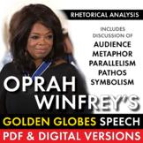 Oprah Winfrey's Golden Globes Speech Rhetorical Analysis PDF & Google Drive CCSS