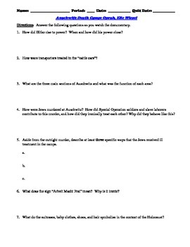Oprah And Elie Wiesel Interview Worksheet And 15 Question Multiple