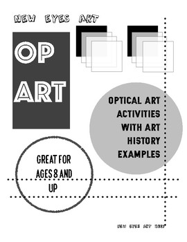 Optical Art Activity with Art History Examples! Fall Break Art Activity Pack!