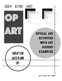 Optical Art Activity with Art History Examples! Fall Break