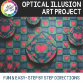 Optical Illusion Art Project with Art Rubric & cross curricular art project